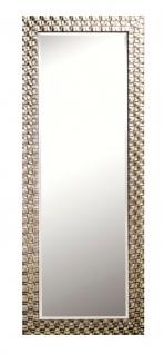 Casa Padrino Wohnzimmer Wandspiegel Silber 57 x H. 147 cm - Luxus Spiegel