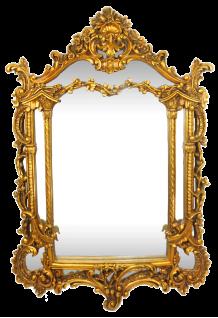 Casa Padrino Barock Spiegel Gold 85 x H. 125 cm - Prunkvoller handgefertigter Wandspiegel - Barock Möbel