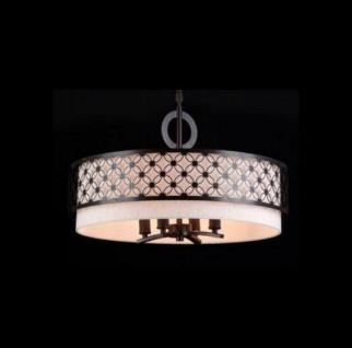 Casa Padrino Barock Decken Kronleuchter Dunkel Wenge 55, 8 x H 33, 2 cm Antik Stil - Möbel Lüster Leuchter Deckenleuchte Hängelampe