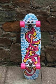 Clans Cruiser Oldschool Skateboard Graffity 8.25 x 27.75 inch - Lagerware mit leichten Kratzern