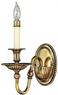 Casa Padrino Barock Messing Wandleuchte 11, 4 x 24, 1 x H. 27, 9 cm - Prunkvolle Hotel & Restaurant Wandlampe im Barockstil - Luxus Qualität