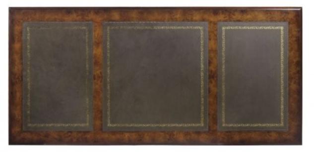 Casa Padrino Mahagoni Schreibtisch Braun / Grün 160, 5 x 76 x H. 77 ...