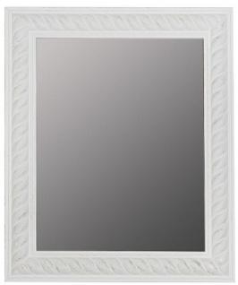 Casa Padrino Barock Wandspiegel Antik Weiß / Gold 52 x H. 62 cm - Barock Spiegel