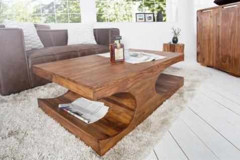 Casa Padrino Designer Massivholz Couchtisch Natur B120 x H40 x T70 cm - Salon Wohnzimmer Tisch - Vorschau 2