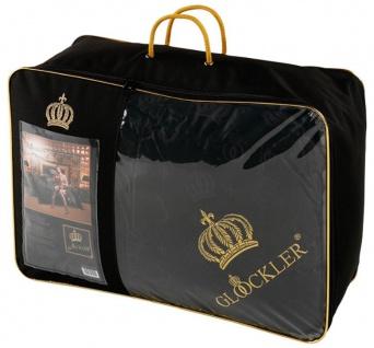 Harald Glööckler Designer Seiden Luxus Kassettendecke Schwarz / Gold 155 x 220 cm + Casa Padrino Luxus Barock Bleistift mit Kronendesign - Vorschau 3