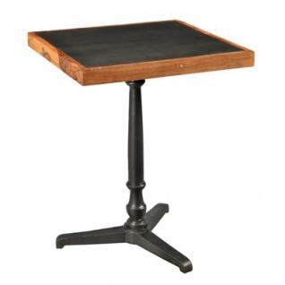Casa Padrino Barock Beistelltisch Eisen / Holz 60 x 60 x H74 cm - Jugendstil Tisch