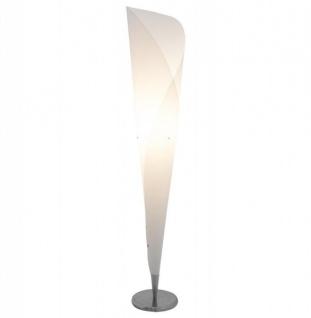 Casa Padrino Designer Stehleuchte Weiß / Chrom - Standleuchte Stehlampe Leuchte