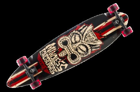 Mindless Tribal Complete Longboard Rogue Black/Red Pintail Komplettboard Komplett mit Koston Kugellagern