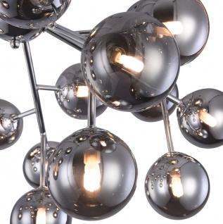 Casa Padrino Wohnzimmer Deckenleuchte Silber Ø 75 x H. 25 cm - Deckenlampe mit kugelförmigen Lampenschirmen - Vorschau 4