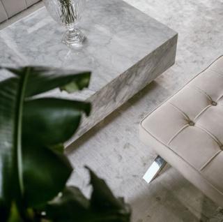 Casa Padrino Luxus Couchtisch Weiß 100 x 100 x H. 35 cm - Quadratischer Wohnzimmertisch aus Carrara Marmor - Marmortisch - Luxus Qualität - Vorschau 3