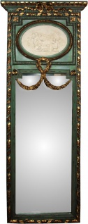 Casa Padrino Rokoko Wandspiegel Gold B 59 x H 161 cm in Antik Grün / Gold - Barock Spiegel Edel & Prunkvoll
