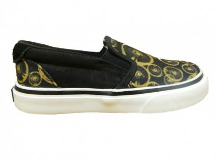 Osiris Skateboard Schuhe Slip-On Scoop Kids Black/Goldspoke/White