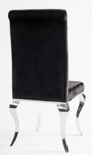 Casa Padrino Luxus Esszimmer Set Schwarz / Silber   Esstisch 180 Cm + 4  Stühle