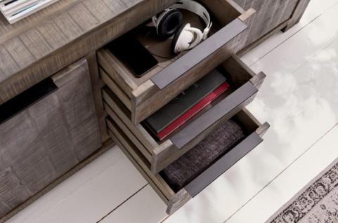 Casa Padrino Landhausstil Sideboard Grau 175 x 50 x H. 76 cm - Massivholz Schrank mit 2 Türen und 3 Schubladen - Wohnzimmer Möbel - Vorschau 5
