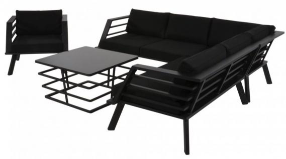 Casa Padrino Gartenmöbel Set mit Polsterung + Sessel + Tisch - Lounge Set - Vorschau 3