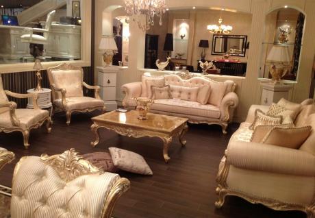 Casa Padrino Luxus Barock Sessel Gold / Antik Gold - Prunkvoller Wohnzimmer Sessel mit elegantem Muster - Barock Wohnzimmer Möbel - Vorschau 4
