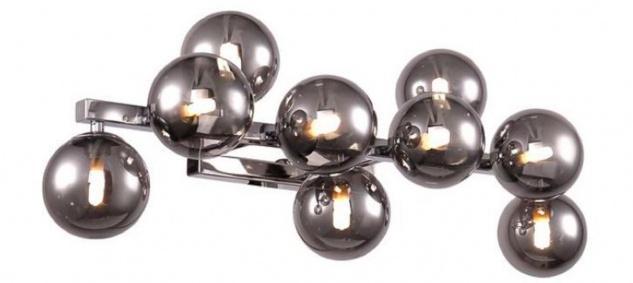Casa Padrino Designer Wandleuchte Silber / Grau 66 x 23 x H. 24 cm - Moderne Wohnzimmer Lampe