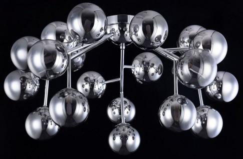 Casa Padrino Wohnzimmer Deckenleuchte Silber Ø 75 x H. 25 cm - Deckenlampe mit kugelförmigen Lampenschirmen - Vorschau 5
