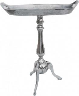 Casa Padrino Aluminium Beistelltisch Höhe: 59 cm, Breite 48 cm, Tiefe 28 cm - Tisch - Alu Finish - Vintage Stil