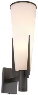 Casa Padrino Luxus Wandleuchte Bronzefarben / Weiß 13 x 19 x H. 40, 5 cm - Elegante Metall Wandlampe mit Glas Lampenschirm - Luxus Leuchten