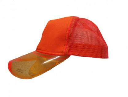 Mesh Trucker Cap Orange - Skateboard BMX Surf Cap