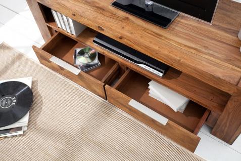 Casa Padrino Designer TV-Board B.135 x H.45 x T.45 - Fernsehschrank - Kommode - Sideboard - Handgefertigt aus Massivholz! - Vorschau 5
