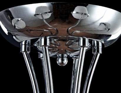 Casa Padrino Designer Deckenleuchte Silber / Weiß Ø 76 x H. 28 cm - Moderne Deckenlampe mit kugelförmigen Lampenschirmen - Vorschau 4