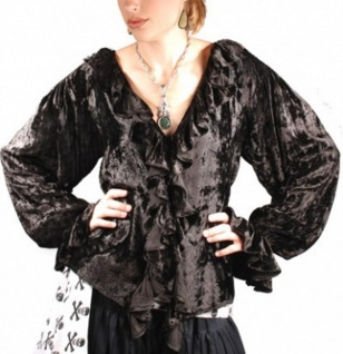 Lady Killigrew Piraten Bluse - Black