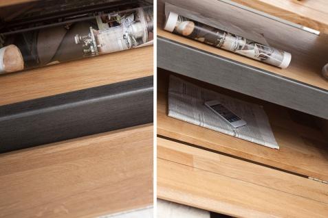 Casa Padrino Designer Fernsehschrank Natur Eiche B.115 x H.40 x T.60 - Sideboard - Kommode - Handgefertigt Massivholz! - Vorschau 4