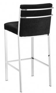 Casa Padrino Designer Hochstuhl / Barstuhl / Barhocker Silber 43 x 54 x H. 101 cm - Luxus Qualität - Vorschau 2