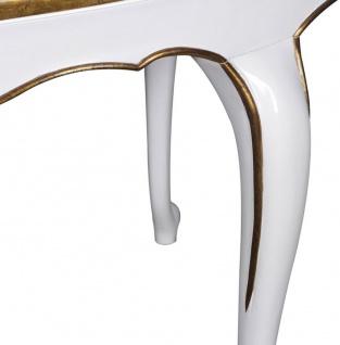 Casa Padrino Luxus Barock Esstisch Weiß / Gold 207 x 114 x H. 78 cm - Ovaler Mahagoni Küchentisch - Barock Esszimmer Möbel - Luxus Qualität - Vorschau 3