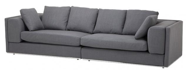 Casa Padrino Sofa Grau 290 x 111 x H. 80 cm - Luxus Kollektion