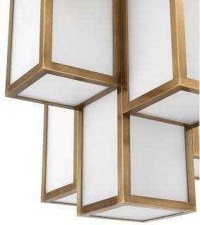 Casa Padrino Luxus Deckenleuchte Antik Messingfarben / Weiß Ø 50 x H. 53, 5 cm - Luxus Qualität - Vorschau 3