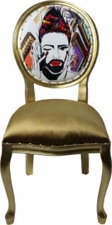 Pompöös by Casa Padrino Luxus Barock Esszimmerstühle Gold / Mehrfarbig 50 x 60 x H.104 cm - Pompööse Barock Stühle designed by Harald Glööckler - 4 Esszimmerstühle - Vorschau 2