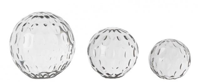Casa Padrino Designer Glas Briefbeschwerer 3er Set - Luxus Dekoration
