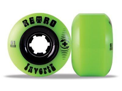 Retro Longboard Rollen Set InvertZ Park Plus 99a 61mm Wheel Set Wheels Skateboard