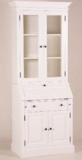 Casa Padrino Shabby Chic Landhaus Stil Schrank Buffetschrank Weiß B 86 x H 215 cm - Schrank Esszimmer