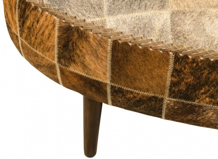 Casa Padrino Luxus Sitzbank mit Kuhfell 130 x 60 x H. 50 cm - Designermöbel - Vorschau 5