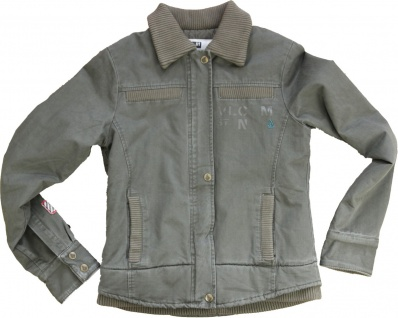 Volcom Military Jacket Jacke Olive Vintage Style Blouson Army Skateboard Styler Jacke