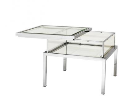 Casa Padrino Luxus Art Deco Designer Beistelltisch 65 x 65 x H. 55, 5 cm - Luxus Kollektion