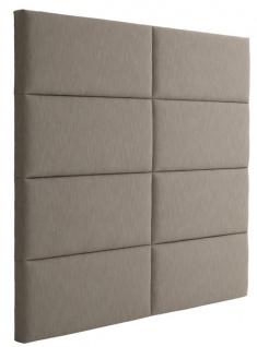 Casa Padrino Designer Bett-Kopfteil Hellbraun 200 x H. 180 cm - Luxus Möbel - Vorschau 2