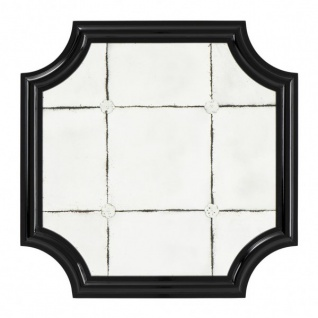 Casa Padrino Luxus Wand Spiegel Art Deco Schwarz / Antikstil Spiegelglas 80 x 80 cm - Wandspiegel