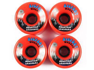 Big Foot Longboard Wheels Mountain Crushers Orange 76mm / 83a Wheel Set Rollen Skateboard Bigfoot Cruiser - Vorschau