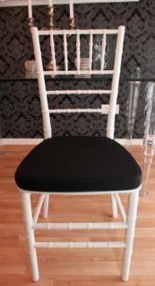 Casa Padrino Designer Acryl Stuhl inkl Sitzkissen Weiß/Schwarz - Ghost Chair white - Polycarbonat Möbel - Polycarbonat Stuhl - Acryl Möbel - Geisterstuhl - Vorschau 2
