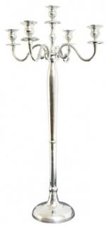 Casa Padrino Barock Kerzenhalter Silber - Aluminium Kerzenständer - Barock Deko Accessoires