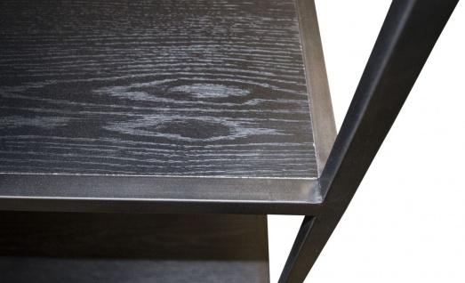 Casa Padrino Designer Regalschrank Schwarz 160 x 40 x H. 160 cm - Luxus Wohnzimmerschrank - Vorschau 5