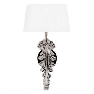 Designer Wandleuchte Silber / Weiss Höhe 47 cm, Breite 25 cm, Tiefe 18 cm Luxus Qualität - Leuchte Lampe