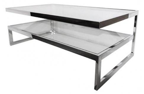 Casa Padrino Luxus Couchtisch Silber 140 x 70 x H. 45 cm - Wohnzimmer Möbel