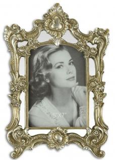 Casa Padrino Barock Bilderrahmen Antik Silber 21, 4 x H. 31, 2 cm - Prunkvoller Bilderrahmen im Barockstil