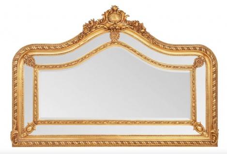 Prunkvoller Casa Padrino Barock Spiegel Gold 125 x 190 cm - Antik Stil - Schwere Ausführung